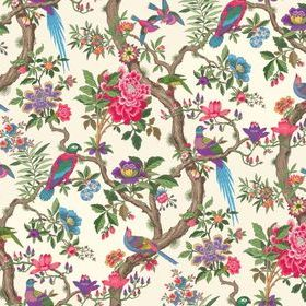 Cole & Son Fontainebleau Fuchsia Pink-Emerald Green 99-12050