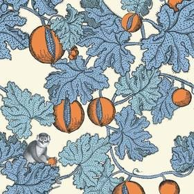 Cole & Son Frutto Proibito Cerulean-Orange 114-1003