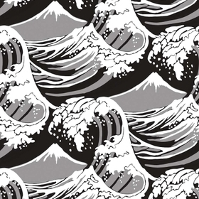 Cole & Son Great Wave Black-White-Grey 89-2008