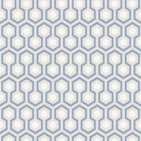 Cole & Son Hicks Hexagon Cornflower Blue-Grey 66-8054