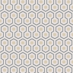 Cole & Son Hicks Hexagon Gold-Cream 95-3016