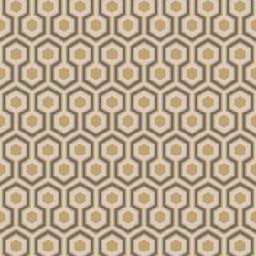 Cole & Son Hicks Hexagon Taupe-Bronze 95-3017