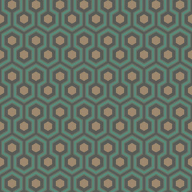 Cole & Son Hicks Hexagon Green-Bronze 95-3018