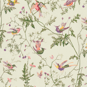 Cole & Son Hummingbirds Green-Multi 100-14070