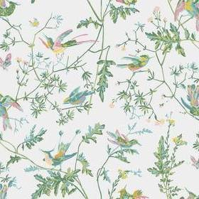 Cole & Son Hummingbirds Green-Pink 112-4015