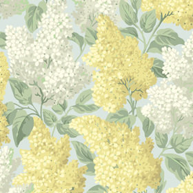Cole & Son Lilac Lemon-Old Olive-Print Room Blue 115-1003