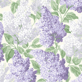Cole & Son Lilac Lilac-Soft Dove-White 115-1004