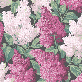 Cole & Son Lilac Magenta-Blush-Charcoal 115-1001