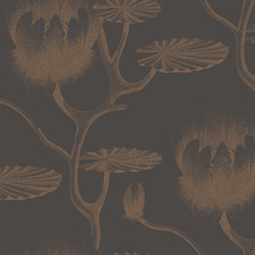 Cole & Son Lily Bronze-Black 95-4021