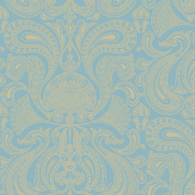 Cole & Son Malabar Turquoise-Gold 66-1001