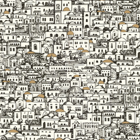 Cole & Son Mediterranea Black-White 77-5016
