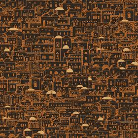 Cole & Son Mediterranea Black-Copper 77-5017