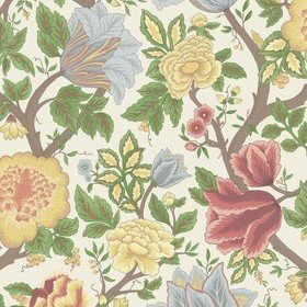 Cole & Son Midsummer Bloom Chartreuse-Rouge-Leaf Green-Parchment 116-4013