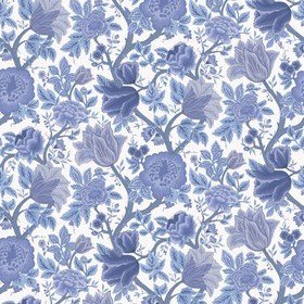 Cole & Son Midsummer Bloom Hyacinth Blue-Chalk 116-4016