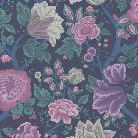 Cole & Son Midsummer Bloom Mulberry-Purple-Teal-Ink 116-4015