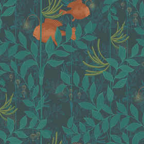 Cole & Son Nautilus Dark Green 103-4019