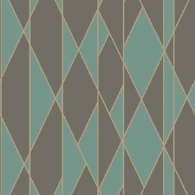Cole & Son Oblique Teal-Black 105-11048