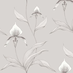 Cole & Son Orchid White-Grey 95-10055