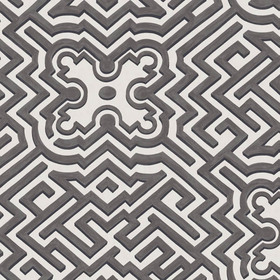 Cole & Son Palace Maze Black-White 98-14057