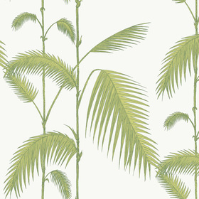 Cole & Son Palm Leaves Leaf Green-White 95-1009