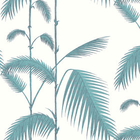Cole & Son Palm Leaves Teal-White 66-2012