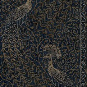 Cole & Son Pavo Parade Metallic Bronze-Midnight 116-8030