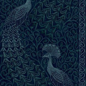 Cole & Son Pavo Parade Metallic Petrol-Ink 116-8028