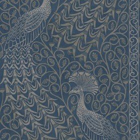 Cole & Son Pavo Parade Metallic Silver-Denim 116-8029