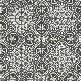 Cole & Son Piccadilly Grey-Metallic Gold-Black 117-8022