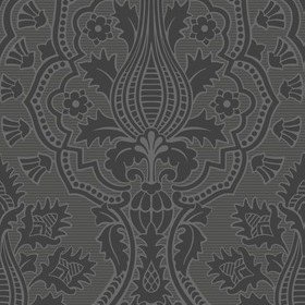 Cole & Son Pugin Palace Flock Charcoal 116-9035