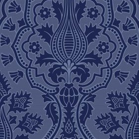 Cole & Son Pugin Palace Flock Dark Hyacinth 116-9033