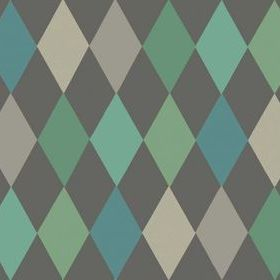 Cole & Son Punchinello Teal-Charcoal 103-2007