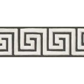 Cole & Son Queens Key Border Black-White 98-9039