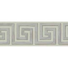 Cole & Son Queens Key Border Silver 98-9042