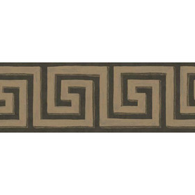 Cole & Son Queens Key Border Charcoal-Bronze 98-9043