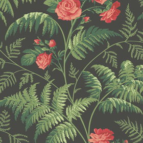 Cole & Son Rose Red-Leaf Green-Charcoal 115-10030