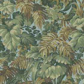 Cole & Son Royal Fernery Khaki-Print Room Blue 113-3008