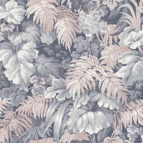 Cole & Son Royal Fernery Slate Blue-Blush Pink 113-3010