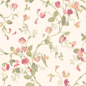 Cole & Son Sweet Pea Blush-Olive 100-6028