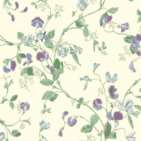 Cole & Son Sweet Pea Mulberry-Sage-Cream 100-6030