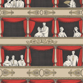 Cole & Son Teatro Linen-Rouge 114-18037