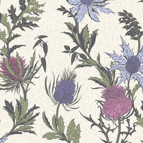 Cole & Son Thistle Lilac-Cerise-White 115-14044