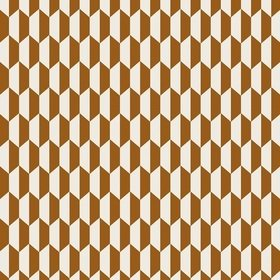 Cole & Son Tile Jacquard Dark Ginger-Cream F111-9035