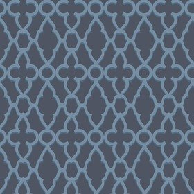 Cole & Son Treillage Cerulean Blue-Midnight 116-6024
