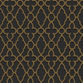 Cole & Son Treillage Metallic Bronze-Charcoal 116-6025