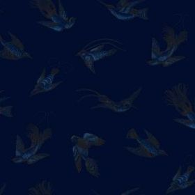 Cole & Son Tropical Birds Midnight-Light Blue 89-1005