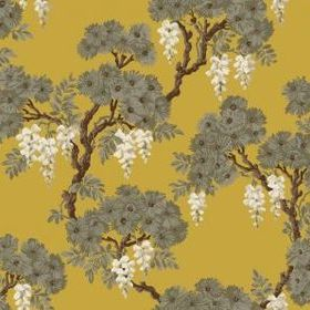 Cole & Son Wisteria Yellow-Grey 89-10040