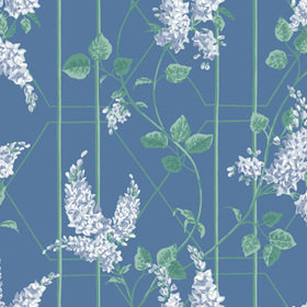 Cole & Son Wisteria Powder Blue-Jade-Cerulean Sky 115-5015