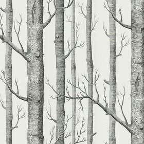 Cole & Son Woods Soot-Snow 69-12147