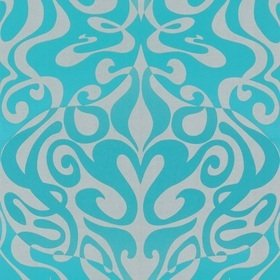 Cole & Son Woodstock Aqua-Metallic Silver 69-7128